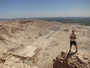 Above the Temple of Hatshepsut