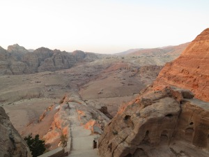 Sunset from Jabal al-Kubtha, seen while climbing back down from viewing the Treasury from above