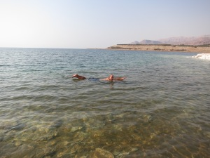 Floating in the Dead Sea:  the lazy man's Superman
