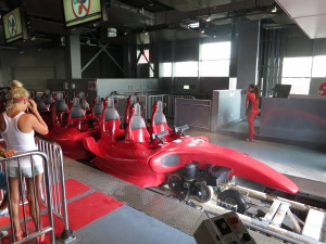 The world's fastest roller coaster, at Ferrari World, Abu Dhabi
