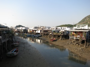 Houses on stilts in the traditional fishing village of Tai O, on Lantau Island