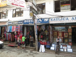 Shona's Alpine in Thamel -- a very helpful trekking gear shop