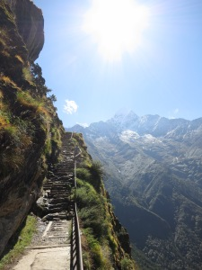 A beautiful morning's walk out of Namche Bazaar