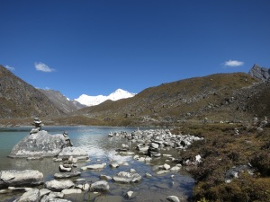 First Lake, in the Gokyo Valley, en route to Gokyo