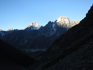 First light leaving Tangnag for the Chola Pass