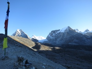 Approaching the Chola Pass from Tangnag in the early morning