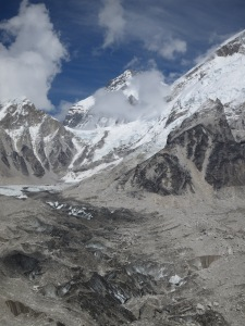 The Khumbu Glacier, leading to Everest Base Camp