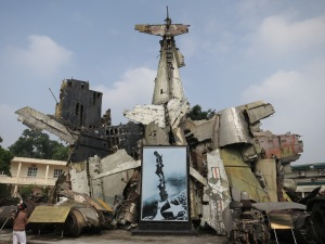 Assorted remains of US military aircraft from the Vietnam War (known in Vietnam as the American War, of course), displayed as a pile of debris in the grounds of the Vietnam Military History Museum