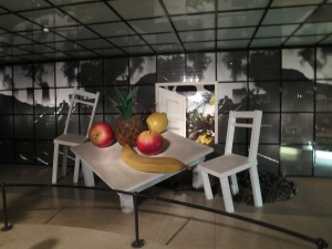 A truly bizarre piece on the second floor of the Ho Chi Minh Museum