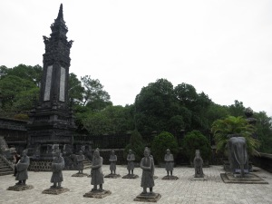 Statues of attendant mandarins, at the Tomb of Emperor Khai Dinh