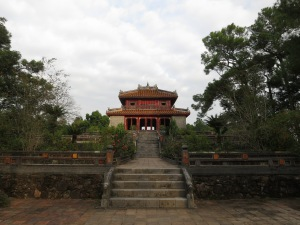 At the Tomb of Emperor Minh Mang, near Hue