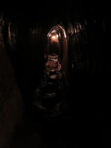 Inside the Vinh Moc Tunnels (north of Hue), where local villagers lived underground for years during the Vietnam War