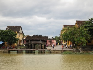 The Japanese Bridge in Hoi An, seen from across the river