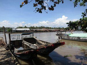 A river channel in the Mekong Delta