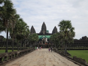 Approaching the central temple within Angkor Wat