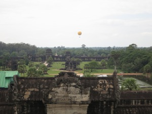 Looking back out towards the western entrance from within the main temple of Angkor Wat