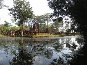 Banteay Srei, seen from across the moat