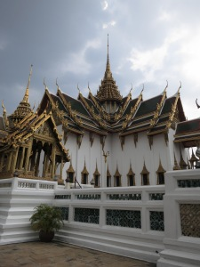 A wing of the Grand Palace, doing its best to look supernaturally responsible for some oncoming inclement weather