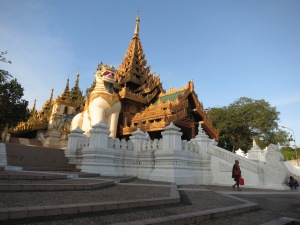 The south entrance to Shwedagon Pagoda, Yangon
