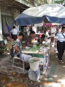 Streetside sellers of beetel nut