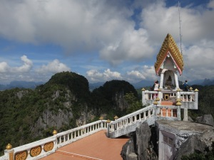 The view from the Tiger Temple (Wat Tham Sua) near Krabi