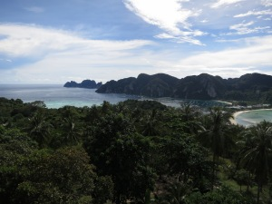 Looking south (-ish) over Ton Sai Bay from Viewpoint 1 on Ko Phi Phi Don