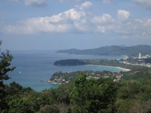 Looking up the coast towards Patong