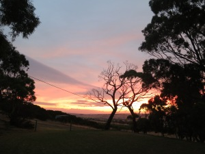 Sunset in Hindmarsh Valley