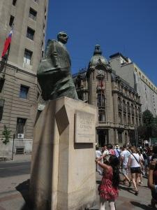 Statue of Salvador Allende Gossens