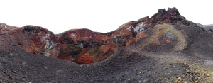 Colourful craters on Volcán Chico