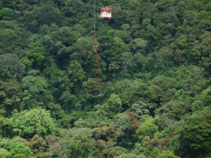 Bungee-jumping in Arenal