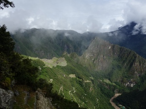 Machu Picchu and Huayna Picchu, seen from the Sun Gate