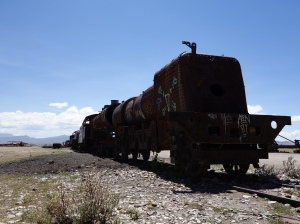 At the train graveyard near Uyuni