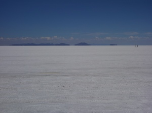 The Uyuni salt flats