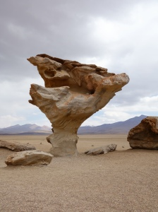 Funny-shaped rocks in the desert in southern Bolivia