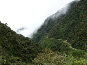 A section of El Camino de la Muerte (aka the Death Road)