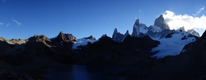 Mount Fitz Roy (right), seen from the end of the hike out to Laguna de los Tres