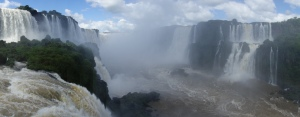 The Falls from the Brazilian side – the Devil's Throat is in amongst the spray off to the left