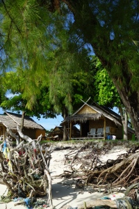 Our beachfront bungalow for a week on Koh Lipe